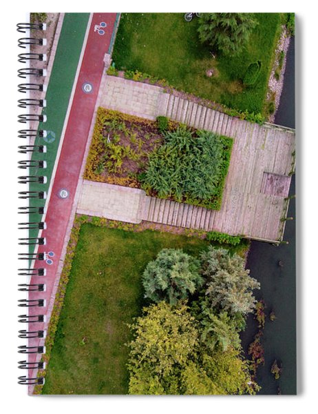 Cycling Path Spiral Notebook