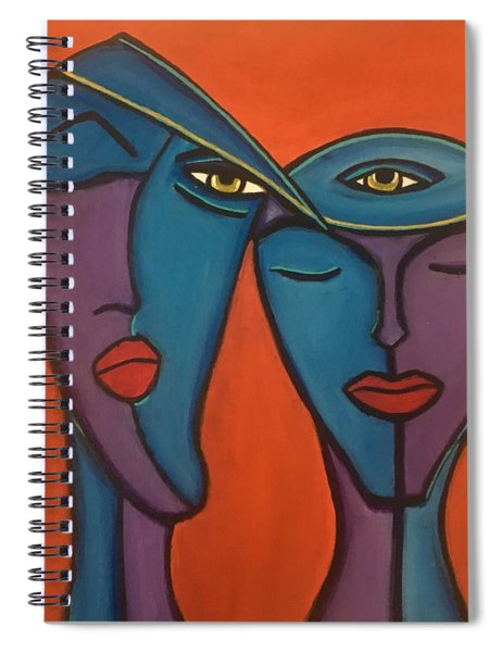 Twin Flame Spiral Notebook