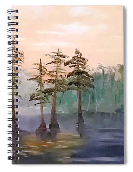 Cypress Trees Spiral Notebook