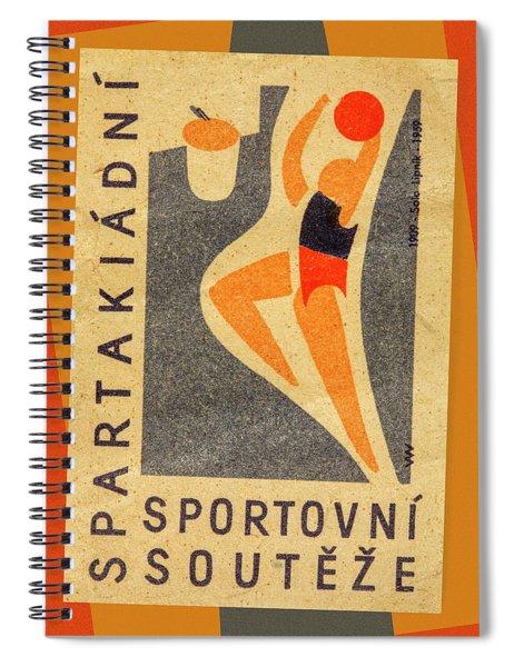 Czech Matchbox Label Basketball Spiral Notebook