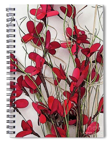 Dainty Red Floral Bouquet Spiral Notebook