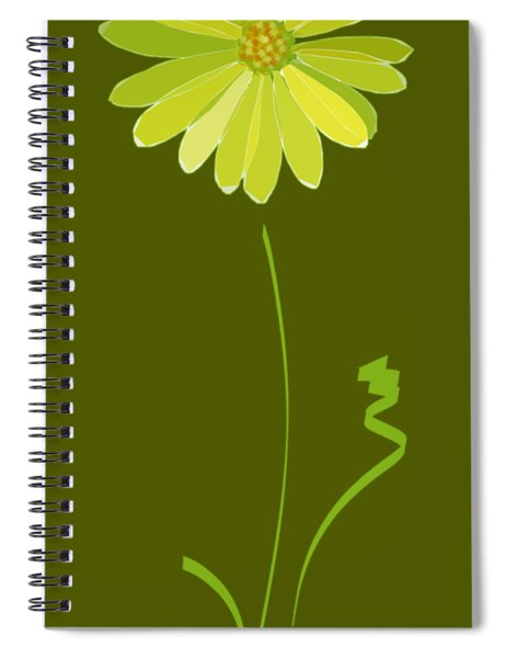Spiral Notebook featuring the digital art Daisy, Daisy by Gina Harrison