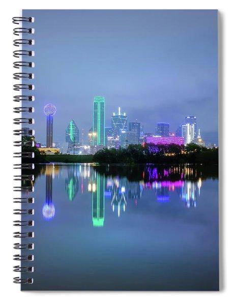 Dallas Cityscape Reflection Spiral Notebook