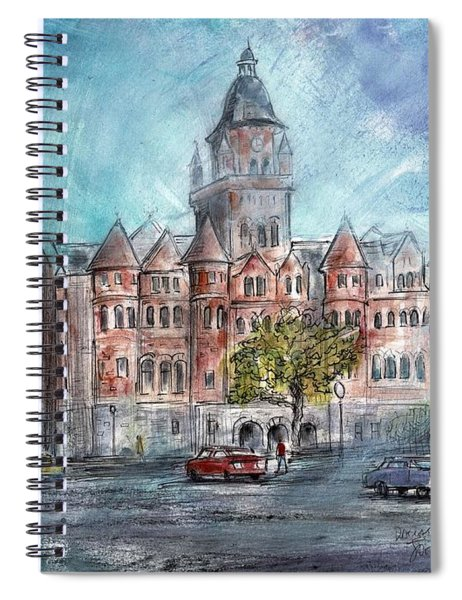 Dallas County Courthouse John York Texas Watercolor Artists Spiral Notebook