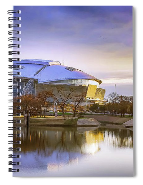 Spiral Notebook featuring the photograph Dallas Cowboys Stadium Arlington Texas by Robert Bellomy