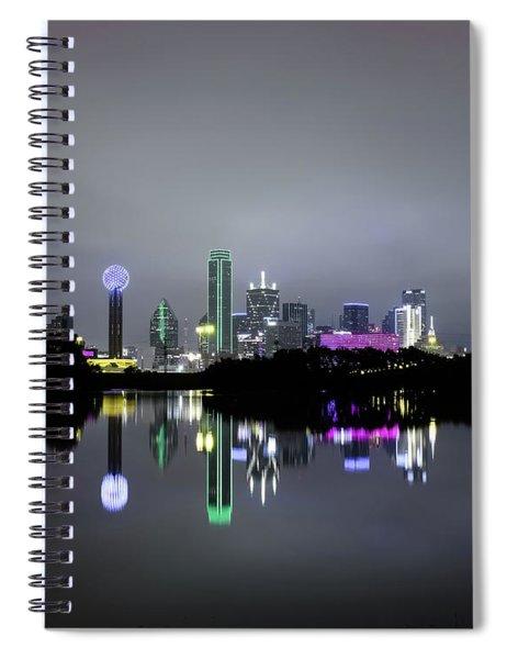 Dallas Texas Cityscape River Reflection Spiral Notebook
