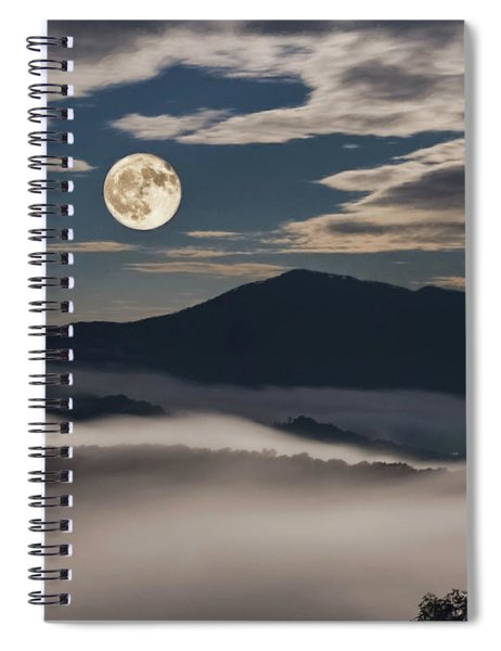 Dance Of Clouds And Moon Spiral Notebook