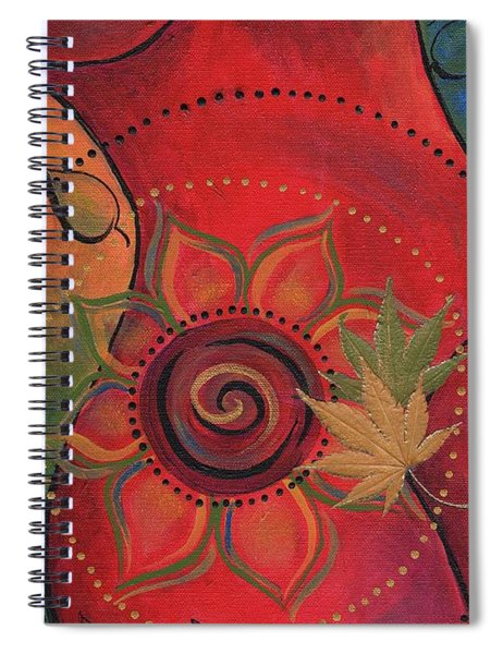 Spiral Notebook featuring the mixed media Dancer II by Koka Filipovic