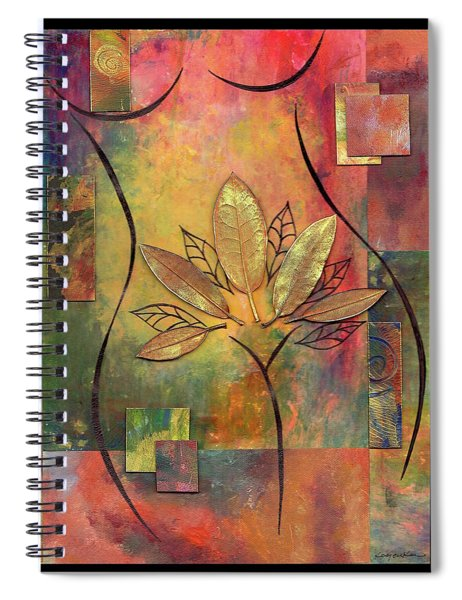 Spiral Notebook featuring the mixed media Dancer by Koka Filipovic