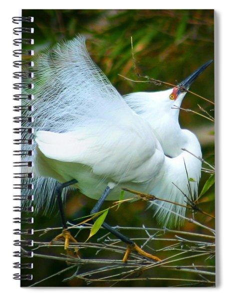 Dancing Egret Spiral Notebook