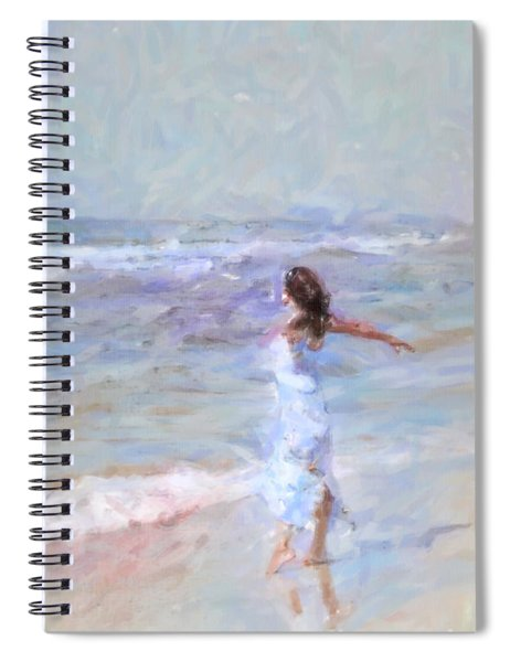 Dancing On The Sand Spiral Notebook