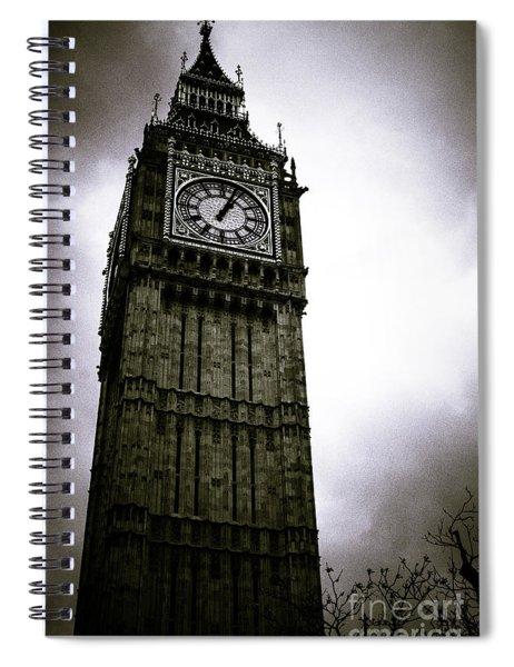 Dark Big Ben Spiral Notebook