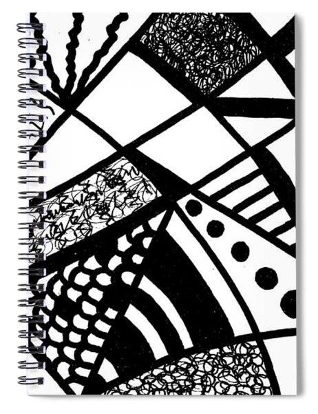 Darkness And Light 6 Spiral Notebook