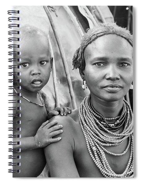 Dassanech Mother And Baby 2 Spiral Notebook