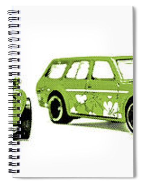 Datsun 510 Comic Strip Spiral Notebook