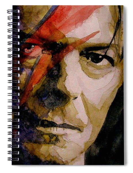 David Bowie - Past And Present  Spiral Notebook