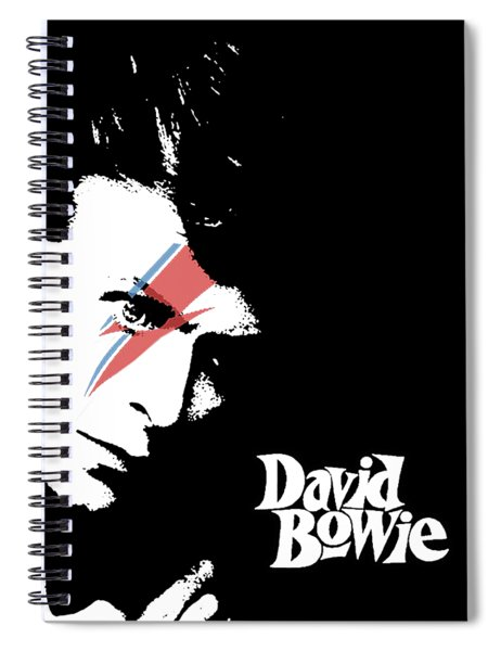 David Bowie Spiral Notebook