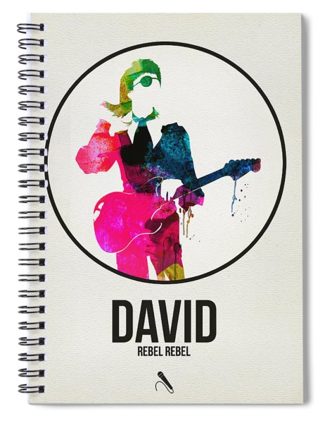 David Bowie Watercolor Spiral Notebook