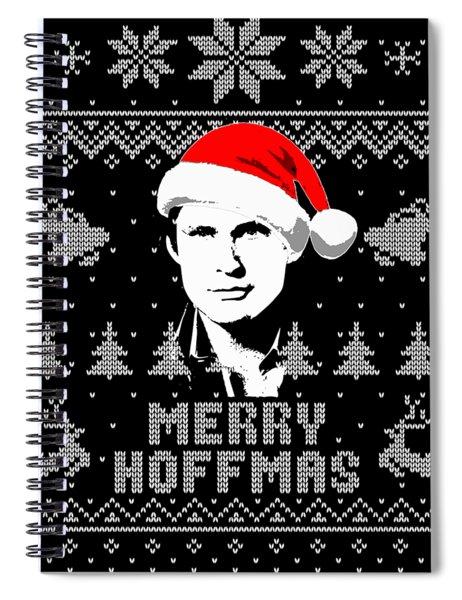 David Hasselhoff Merry Hoffmas Christmas Shirt Spiral Notebook