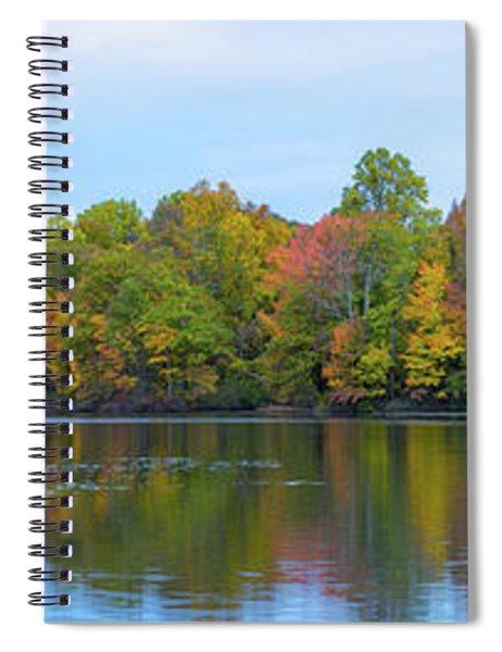 Davidson's Mill Pond Autumn Panorama  Spiral Notebook