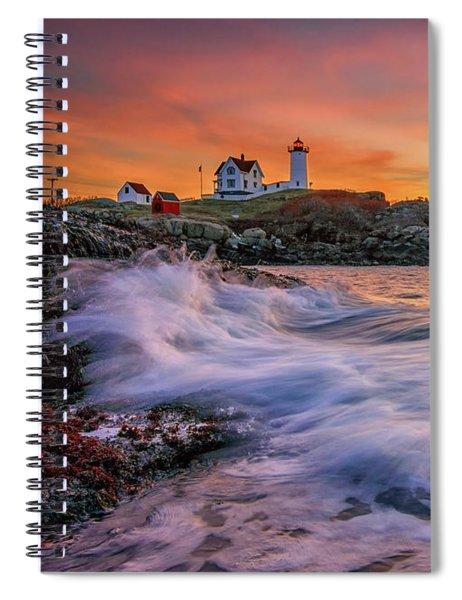 Dawn At Cape Neddick Lighthouse Spiral Notebook