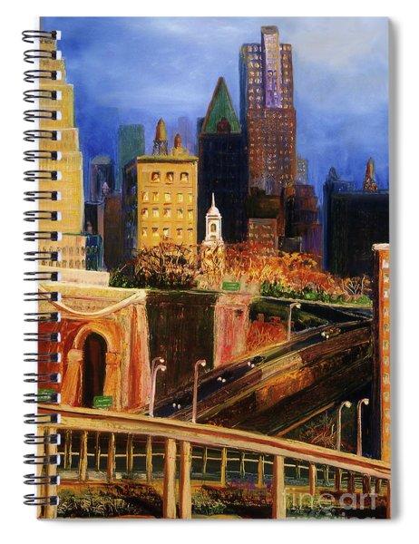 Dawn At City Hall Spiral Notebook