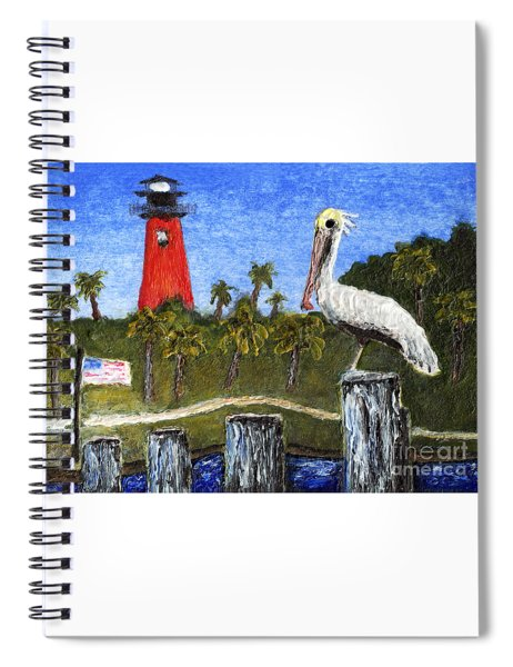 Aceo Dawn At Jupiter Inlet Lighthouse Florida 52a Spiral Notebook