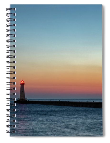 Spiral Notebook featuring the photograph Dawn At Sodus Point by Rod Best
