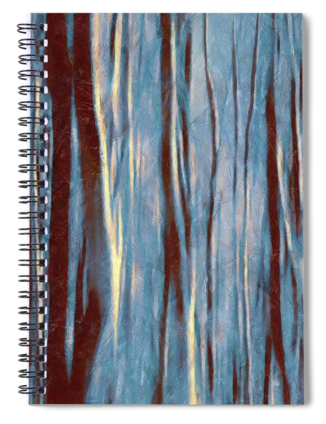 Dawn In The Winter Forest - Landscape Mood Lighting Spiral Notebook