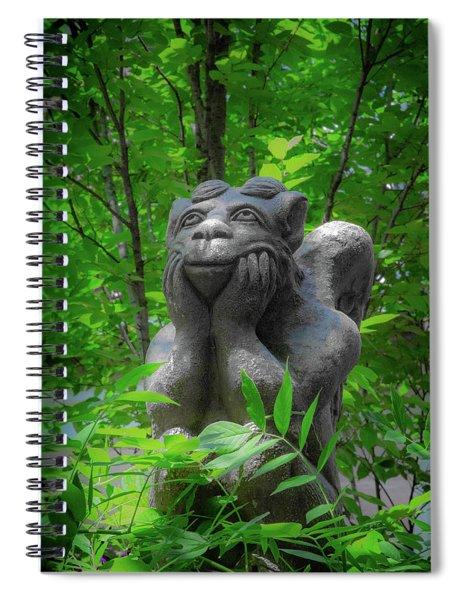 Daydreaming Gargoyle Spiral Notebook