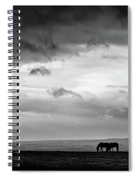 Days End At Hvammstangi Spiral Notebook