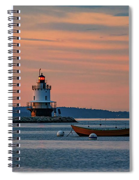 Day's End At Spring Point Spiral Notebook
