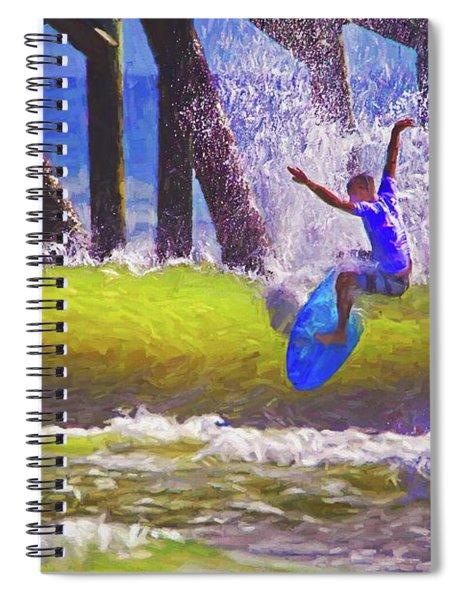 Daytona Pier Proam Surfer Spiral Notebook