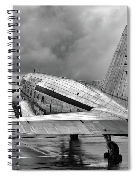 Dc-3 Under A Stormy Sky Spiral Notebook