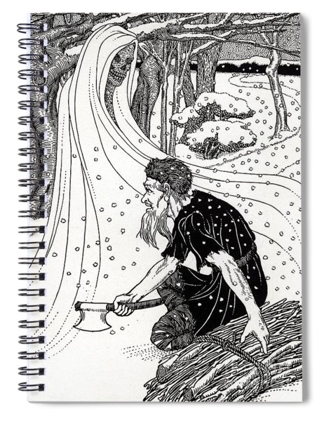 Death And The Woodman Spiral Notebook