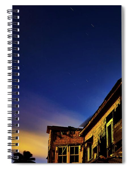 Decaying House In The Moonlight Spiral Notebook