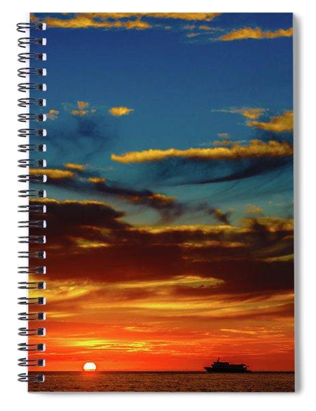 December 17 Sunset Spiral Notebook