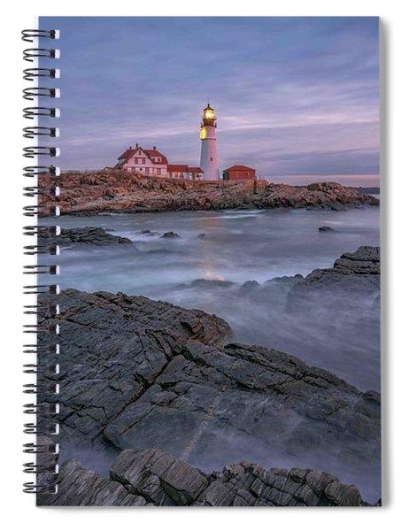 December Dawn At Portland Head Light Spiral Notebook