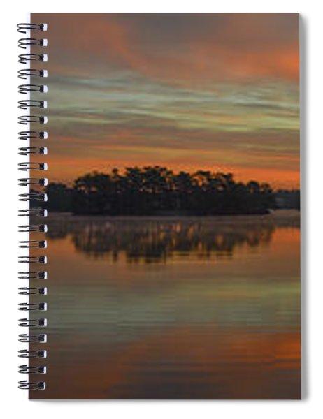 December Sunrise Over Spring Lake Spiral Notebook