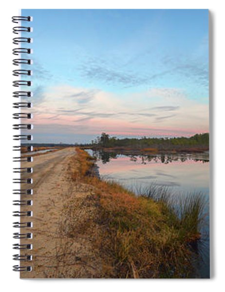 December Sunset At Whitesbog Nj Spiral Notebook
