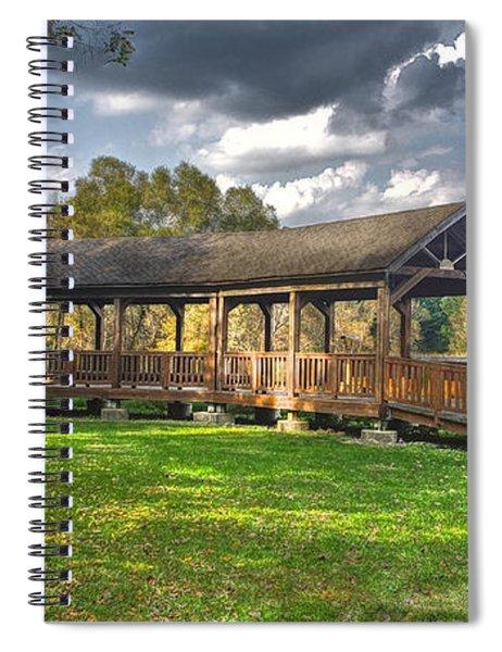 Deck At Pickerington Ponds Spiral Notebook