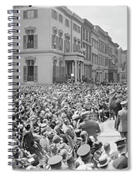 Dedication Of The Lafayette Statue Spiral Notebook