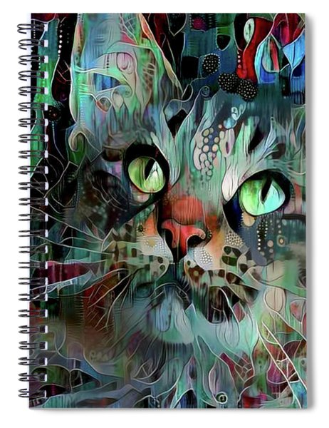 Deedee In Blue And Red Spiral Notebook