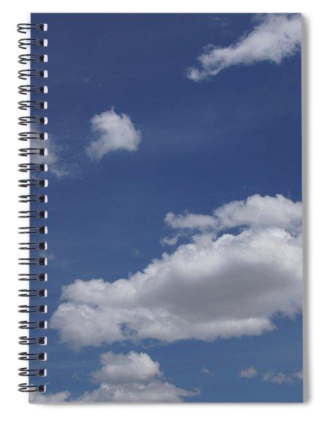 Deep Blue Sky And Fluffy Cumulous Cloud Spiral Notebook