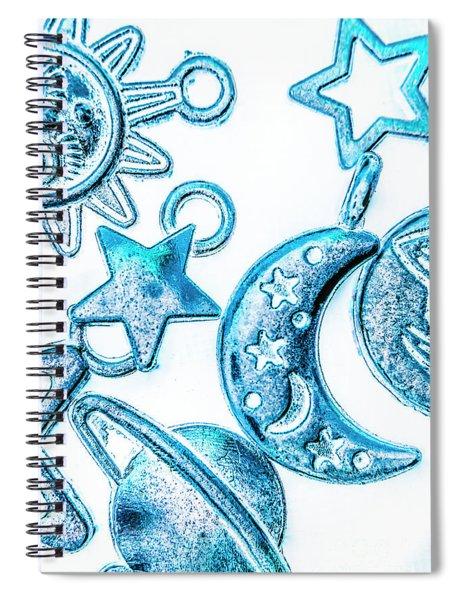 Deep Blue Space Spiral Notebook