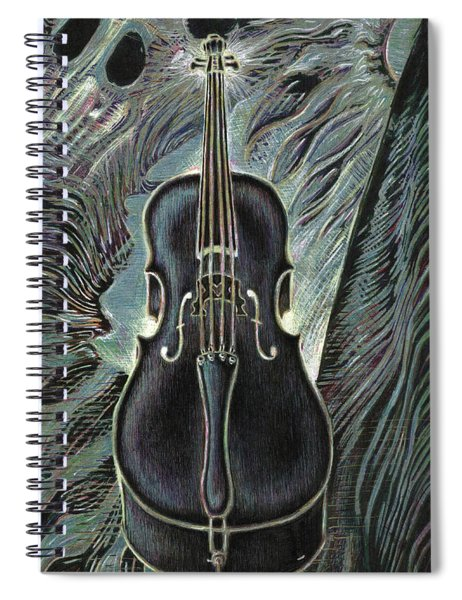 Deep Cello Spiral Notebook