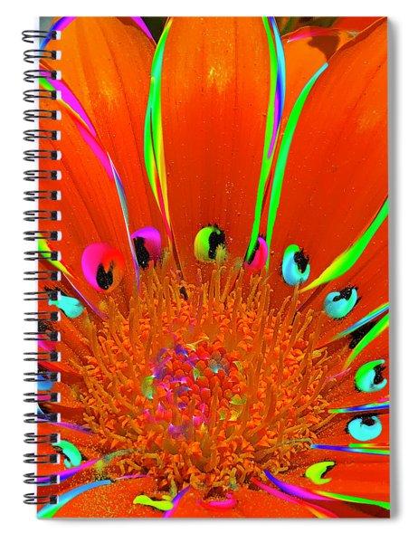 Deep Coral Bloom  Spiral Notebook