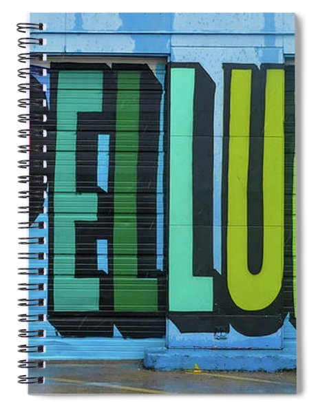 Spiral Notebook featuring the photograph Deep Ellum Wall Art by Robert Bellomy