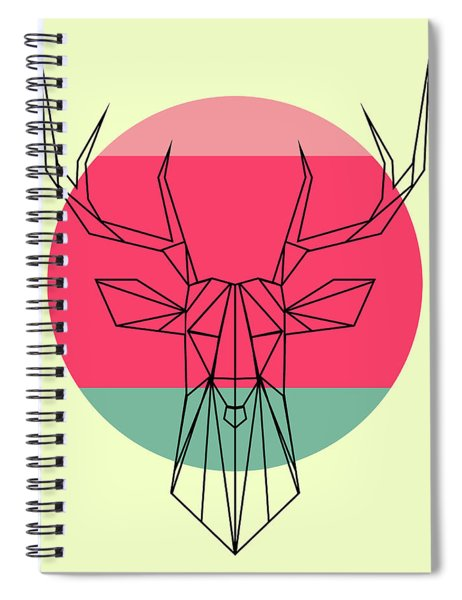 Deer And Sunset Spiral Notebook