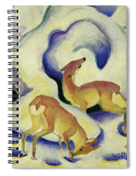 Deer In The Snow, 1911 Spiral Notebook